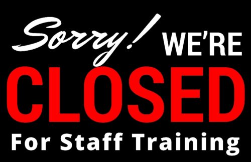 Library Closed – Saturday, October 26 – Staff Training