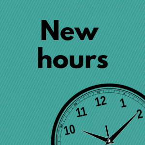 New Library Hours – Beginning February 1, 2021